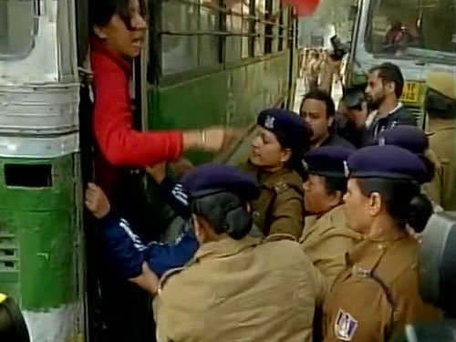 Scholar suicide: Fresh protests in Delhi, 60 students detained