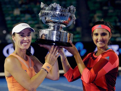 Sania and Martina win Aussie Open for third major trophy