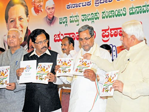 Cong manifesto promises clean drinking water in all villages