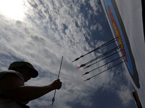 Indian archery members ready for SAG