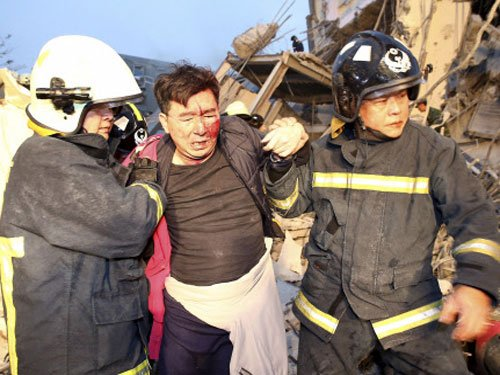 Eleven dead after powerful Taiwan quake fells buildings