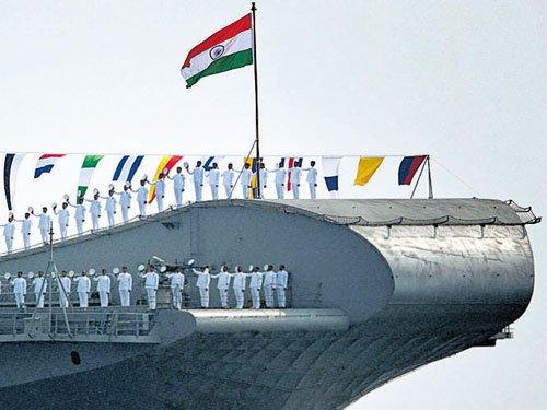 Navy flexes maritime muscle; INS Viraat  on a swansong