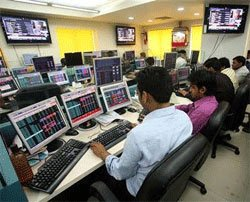 Sensex slides 330 pts on fag-end selling, GDP data eyed