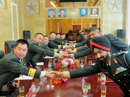 Chinese, Indian border troops hold joint disaster drills
