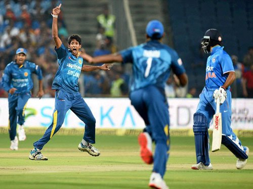Rookie pacers Kasun and Dasun shot out India for 101