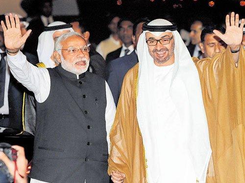 Modi sheds security to receive  Abu Dhabi crown prince