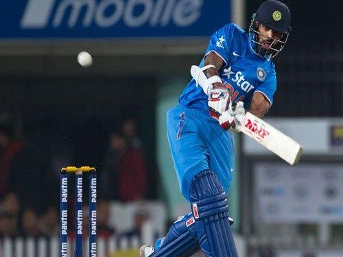 Dhawan propels India to imposing 196/6