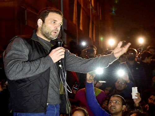 Rahul accuses NDA govt of suppressing students voice
