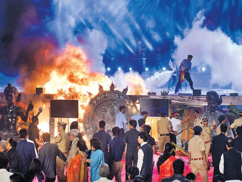 Make in India stage goes up in fire
