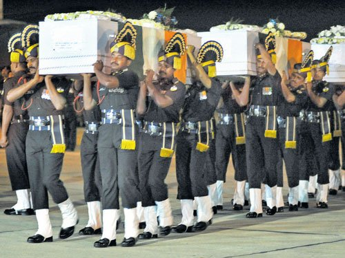 Mortal remains of martyrs arrive in Bengaluru