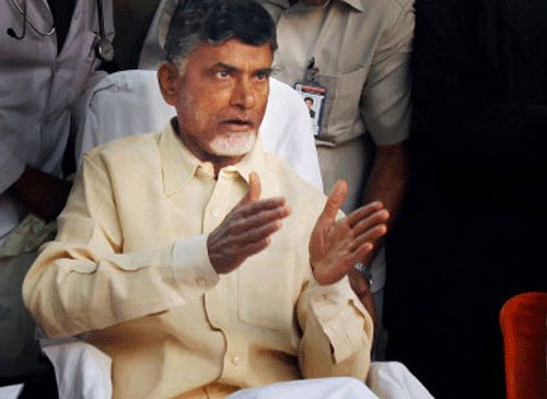 Naidu lays foundation for first building in Amaravati