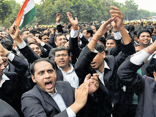 Lawyers march against 'anti-nationals'