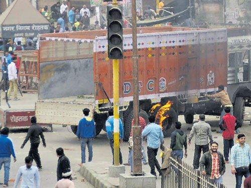 Jat stir in Haryana turns violent; Army called in