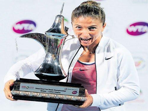 Errani cruises to Dubai Open title