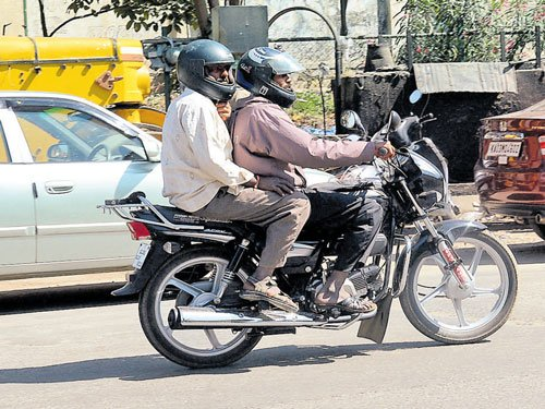 Fines on pillion riders without helmets yield Rs two crore