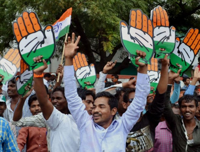 Karnataka Panchayat polls: Cong edges ahead of BJP