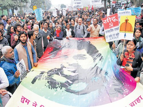 Students, teachers join march for Vemula