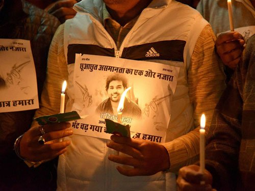 BSP members force RS adjournment twice over Vemula suicide