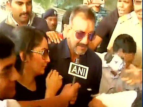 Bollywood actor Sanjay Dutt walks free out of Yerawada prison