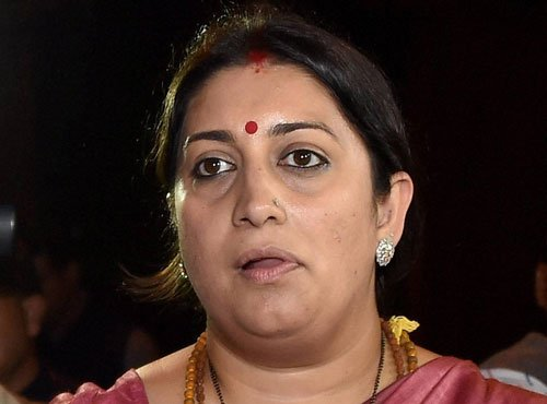 Oppn seek Smriti's apology on 'objectionable' comments in RS