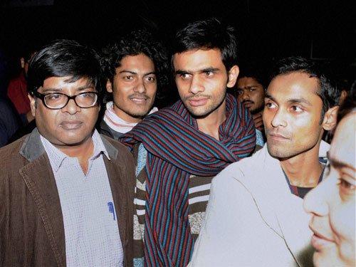 Police grills JNUSU prez Kanhaiya, Khalid and Anirban together