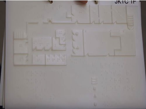 3D printed braille maps for the visually impaired created