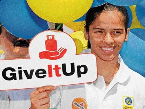 Give up LPG subsidy for poor, says Saina Nehwal
