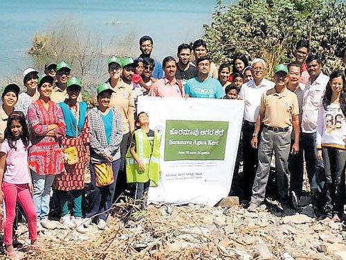 Horamavu residents walk to conserve lake