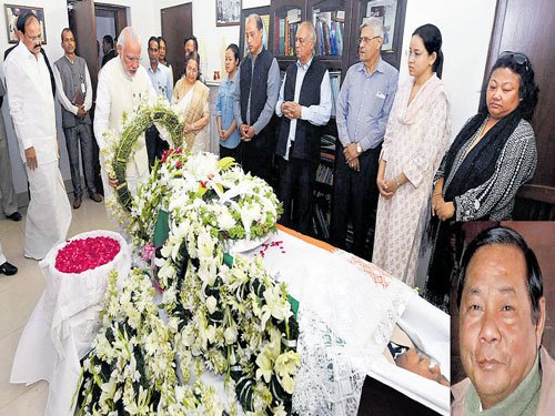 Sangma passes away, funeral on Sunday