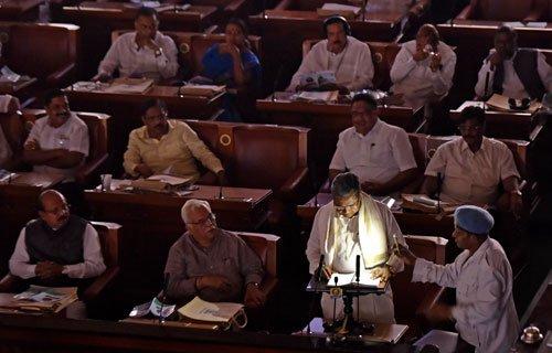 Oppn snaps at Siddu as power trips during budget speech