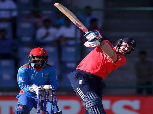 England make 142/7 against Afghanistan
