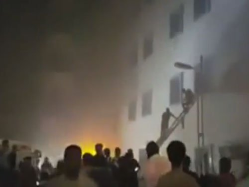 Fire at government hospital, 26 newborns rescued