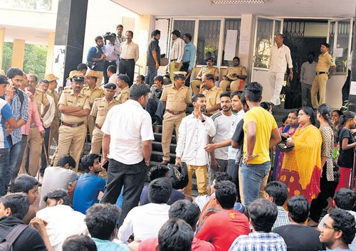 PUstudents protest over Chemistry re-exam