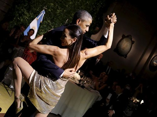 Soft shoe diplomacy: Obama dances the tango at Argentine state dinner