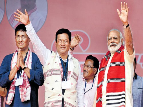 BJP is fighting against poverty, not Gogoi: PM
