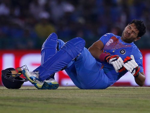 Yuvraj out, India face selection conundrum against Windies