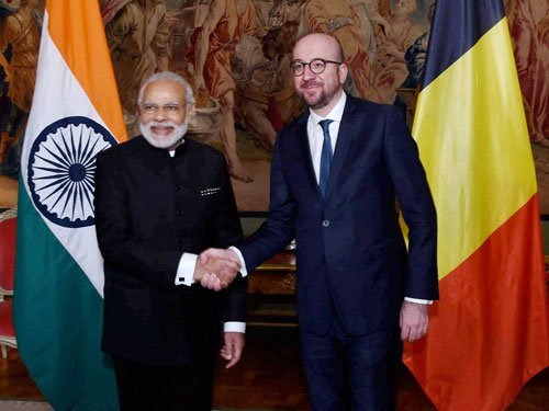PM pitches for pact with Belgium to combat terrorism
