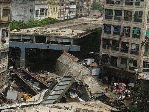Flyover collapse:Rajnath directs NDRF to engage all resources