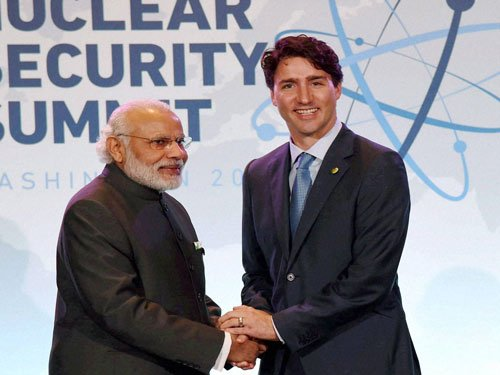 PM meets Trudeau in Washington; discuss bilateral ties