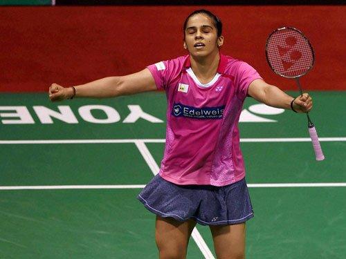 Saina battles into semis