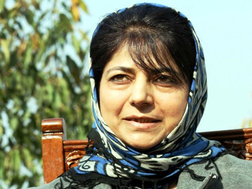 Mehbooba to take oath as first woman CM  of J&K today