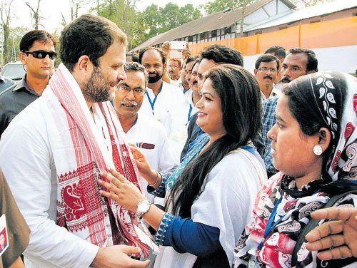 Rahul campaigns in lower Assam for second phase