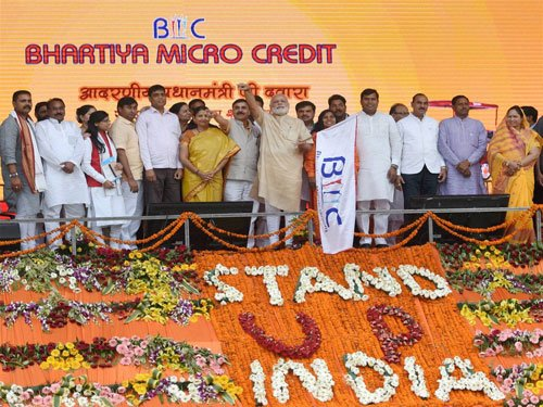 PM launches Stand up India to promote financial inclusion