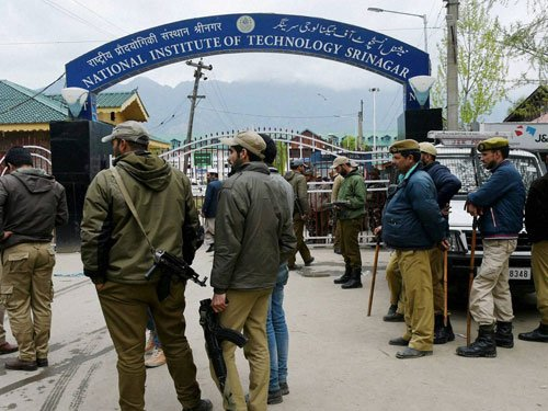 NIT Srinagar: Local students opposed to demands of agitating students