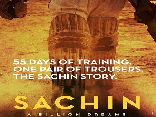 Sachin Tendulkar unveils poster of his biopic