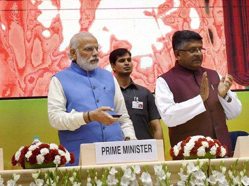 Modi accuses Cong of ignoring Ambedkar legacy