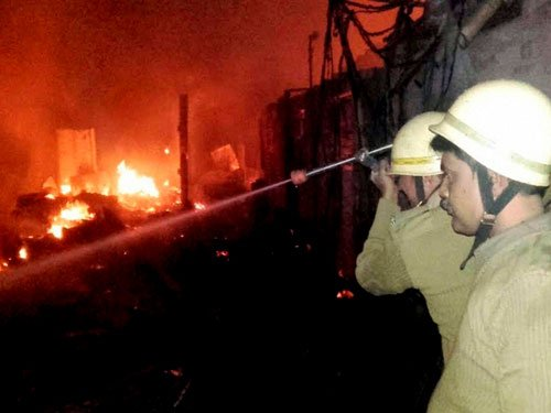 Huge stock of incense sticks destroyed in fire