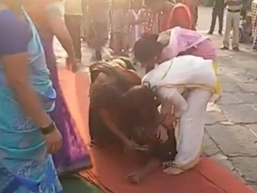 Women activists manhandled at Trimbakeshwar temple; 200 booked