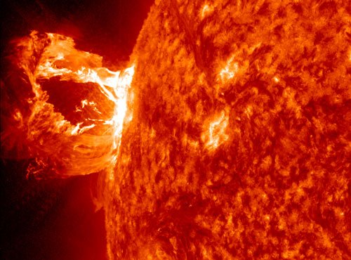 NASA missions measure solar flare from space