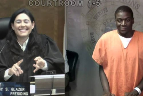 'Stay clean': Judge tells classmate after emotional reunion